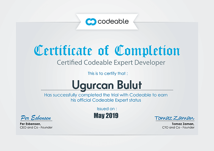 Codeable Certificate